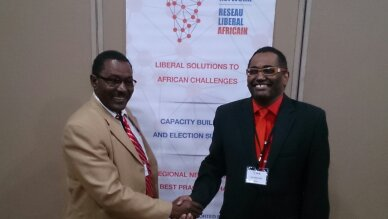 with Dr. Chane Kebede, Chairman of Ethiopian Democratic Party