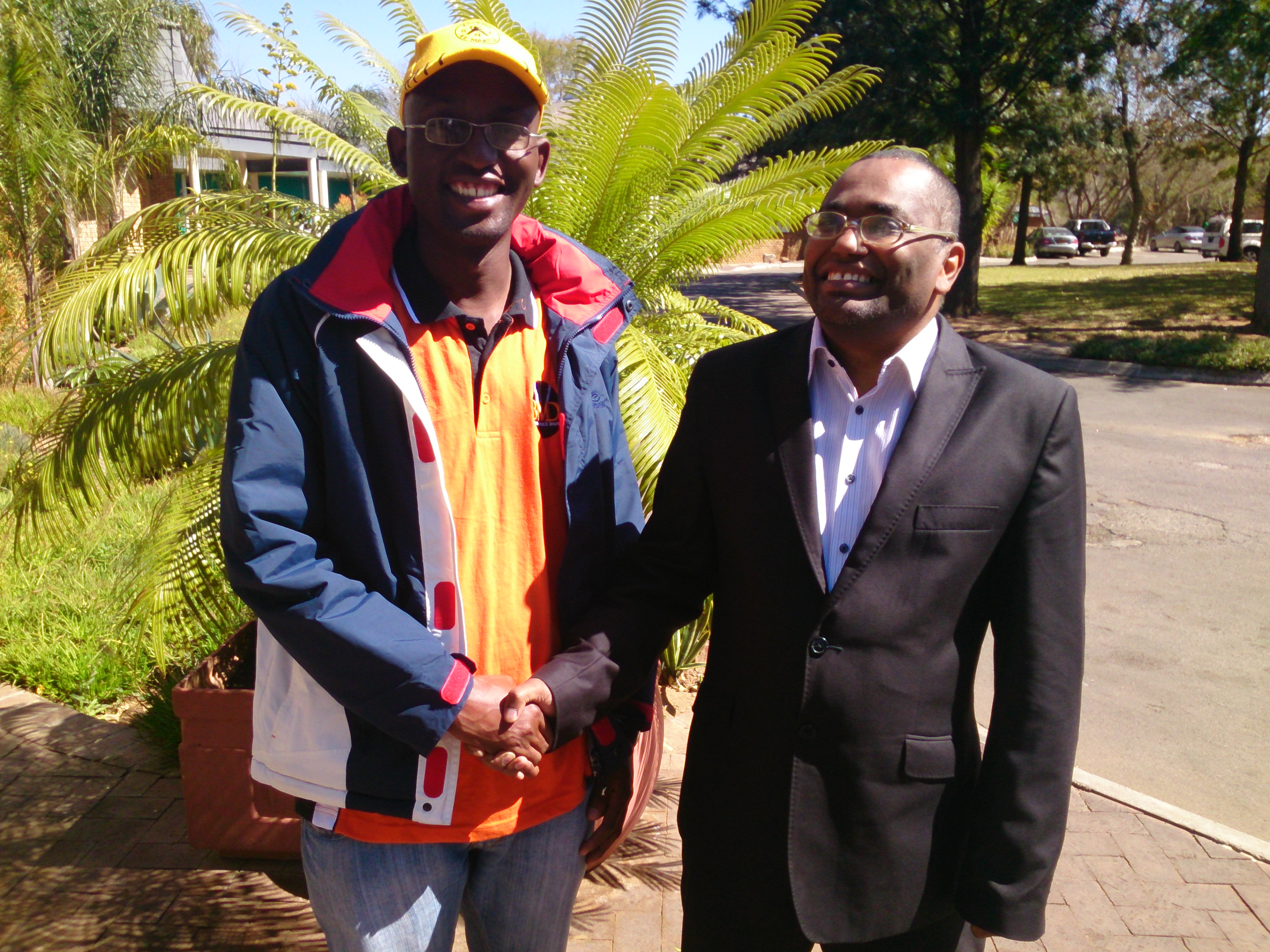With Haskins Nkaigwa, former Mayor of Gaborone and current Gaborone North Member of Parliament of Botswana