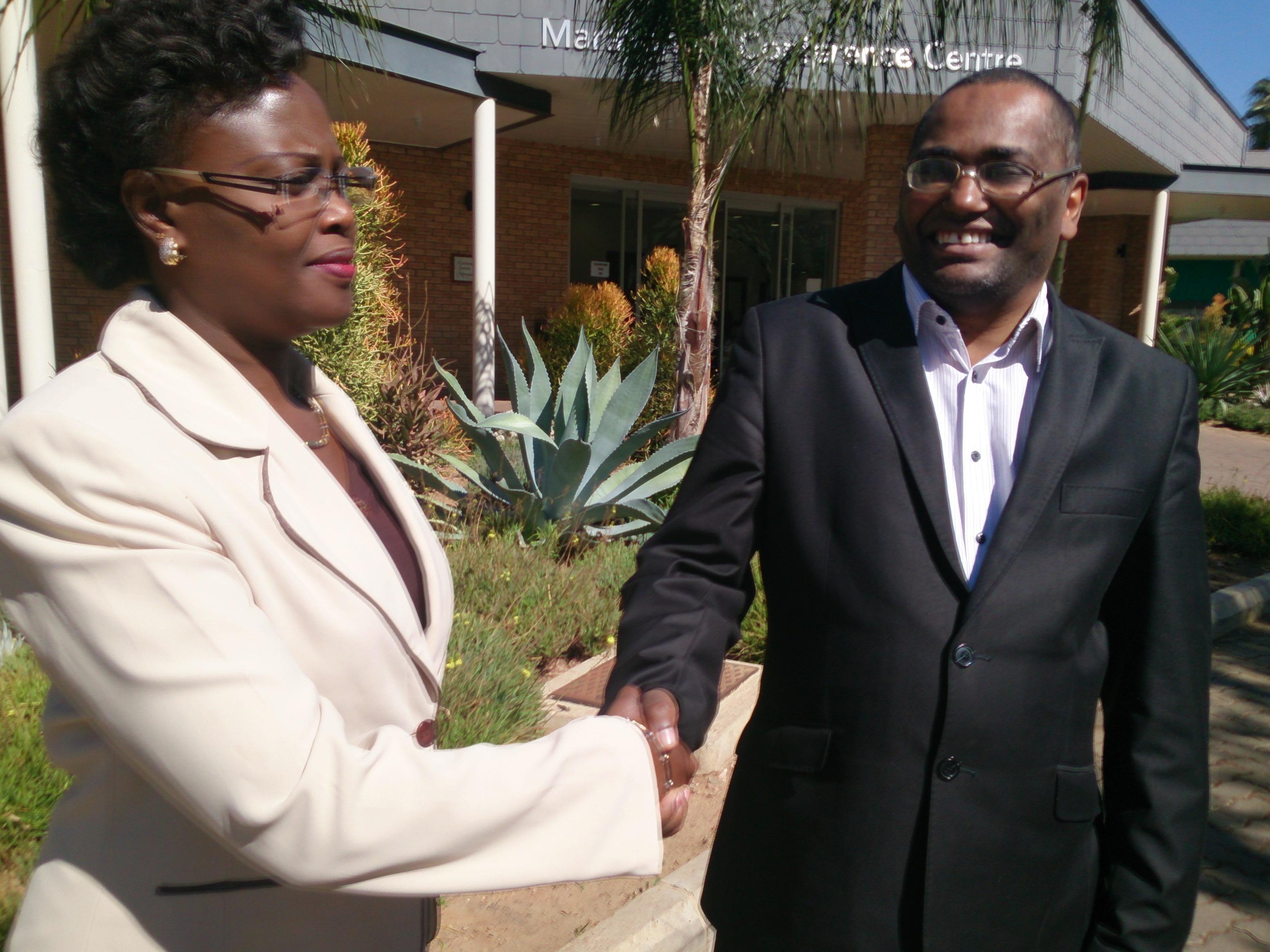With hon. Alice Nzomukunda, former former Vice-President of Burundi