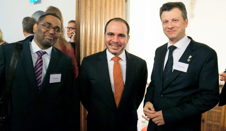 مع ماريك ميخالاك والامير علي بن الحسين